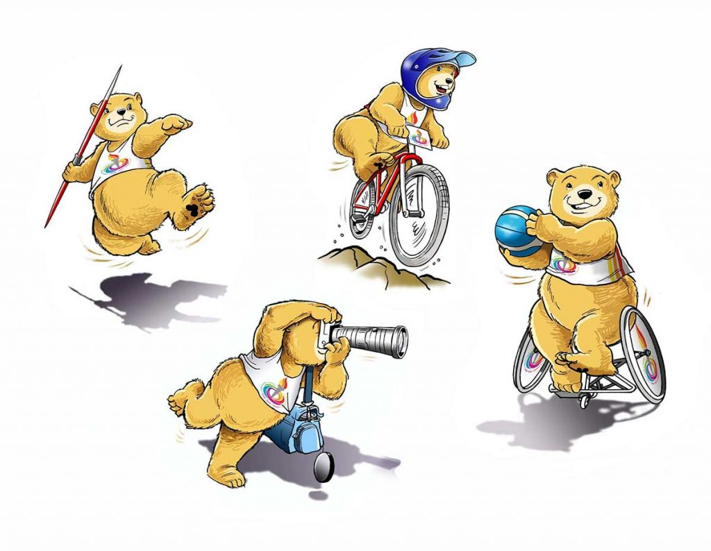Sporty bear cartoons.