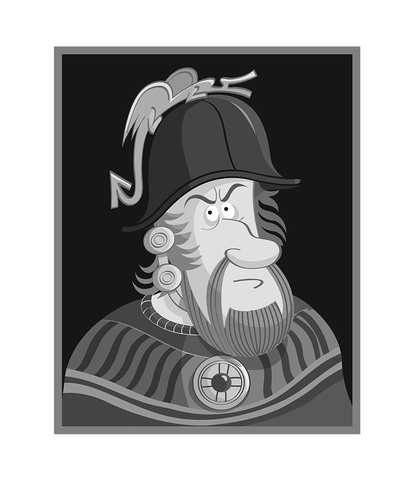 William Wallace caricature.