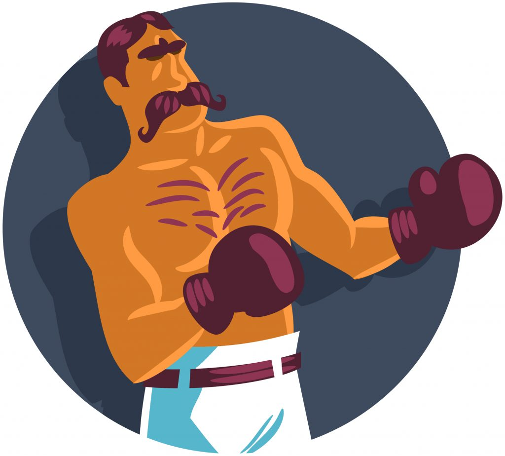 graphic illustration of a boxer